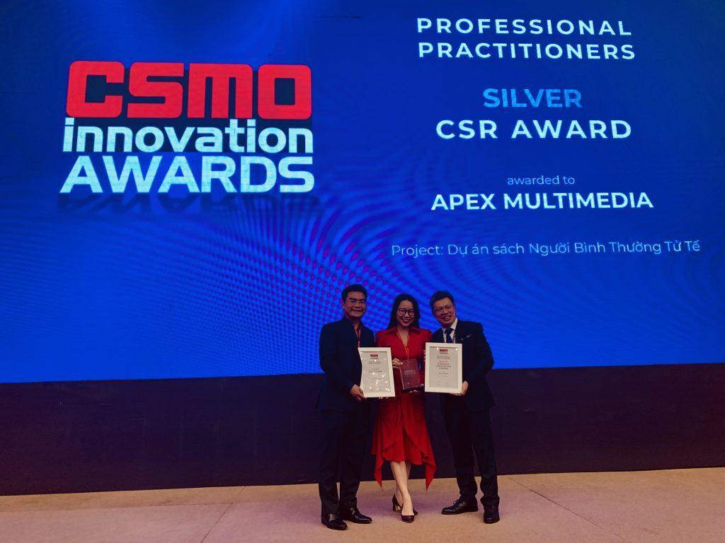 APEX NHẬN ĐỒNG LOẠT 2 GIẢI THƯỞNG TẠI CSMO INNOVATION AWARDS 2019