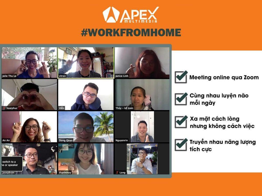 apex, nhân sự, training, meeting, agency, covid, work from home